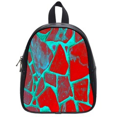 Red Marble Background School Bags (small)