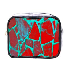 Red Marble Background Mini Toiletries Bags