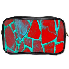 Red Marble Background Toiletries Bags
