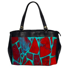 Red Marble Background Office Handbags