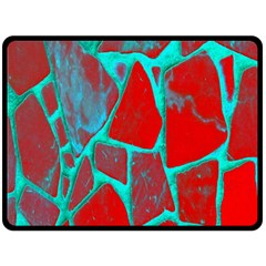 Red Marble Background Fleece Blanket (large)