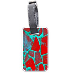 Red Marble Background Luggage Tags (One Side)