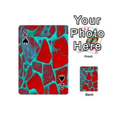 Red Marble Background Playing Cards 54 (Mini)