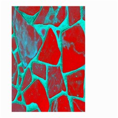 Red Marble Background Small Garden Flag (two Sides)