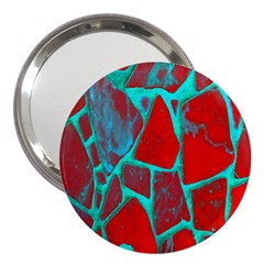 Red Marble Background 3  Handbag Mirrors