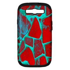 Red Marble Background Samsung Galaxy S III Hardshell Case (PC+Silicone)