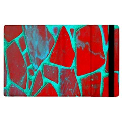 Red Marble Background Apple Ipad 3/4 Flip Case