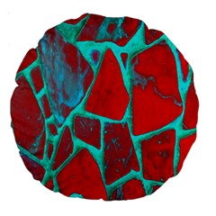 Red Marble Background Large 18  Premium Round Cushions