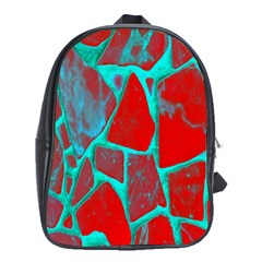 Red Marble Background School Bags (xl)