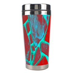 Red Marble Background Stainless Steel Travel Tumblers