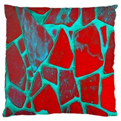 Red Marble Background Large Flano Cushion Case (Two Sides)