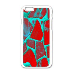 Red Marble Background Apple Iphone 6/6s White Enamel Case