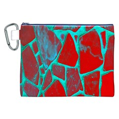 Red Marble Background Canvas Cosmetic Bag (XXL)
