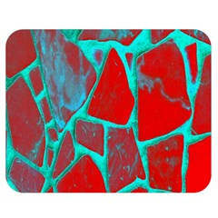Red Marble Background Double Sided Flano Blanket (Medium)