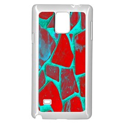 Red Marble Background Samsung Galaxy Note 4 Case (White)
