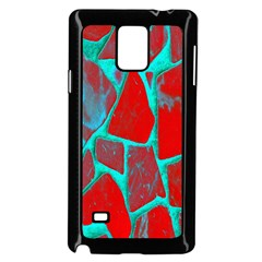 Red Marble Background Samsung Galaxy Note 4 Case (black)