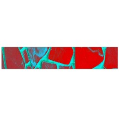 Red Marble Background Flano Scarf (Large)