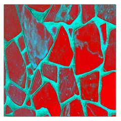 Red Marble Background Large Satin Scarf (Square)