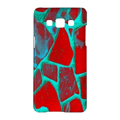 Red Marble Background Samsung Galaxy A5 Hardshell Case