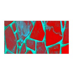 Red Marble Background Satin Wrap