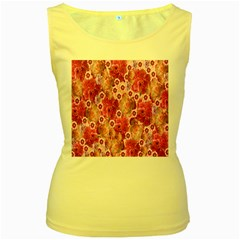 Roses Flowers Rose Blooms Nature Women s Yellow Tank Top