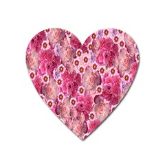 Roses Flowers Rose Blooms Nature Heart Magnet