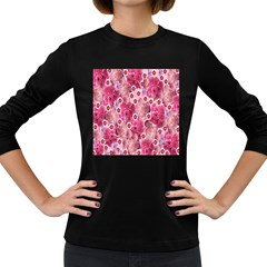 Roses Flowers Rose Blooms Nature Women s Long Sleeve Dark T-Shirts