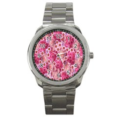Roses Flowers Rose Blooms Nature Sport Metal Watch