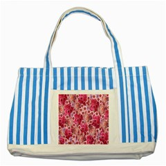 Roses Flowers Rose Blooms Nature Striped Blue Tote Bag