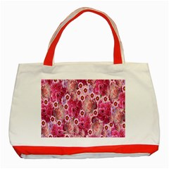 Roses Flowers Rose Blooms Nature Classic Tote Bag (red)