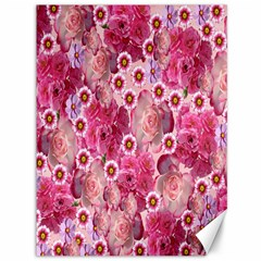 Roses Flowers Rose Blooms Nature Canvas 36  x 48