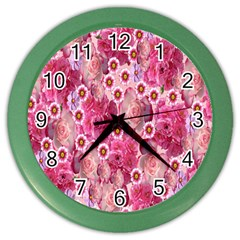 Roses Flowers Rose Blooms Nature Color Wall Clocks