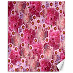Roses Flowers Rose Blooms Nature Canvas 11  x 14