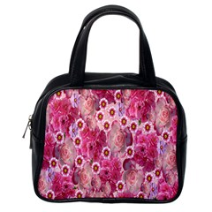 Roses Flowers Rose Blooms Nature Classic Handbags (One Side)