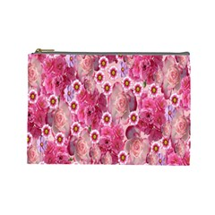 Roses Flowers Rose Blooms Nature Cosmetic Bag (Large)