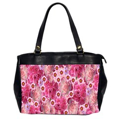 Roses Flowers Rose Blooms Nature Office Handbags (2 Sides)