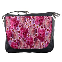 Roses Flowers Rose Blooms Nature Messenger Bags