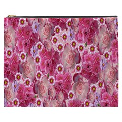 Roses Flowers Rose Blooms Nature Cosmetic Bag (xxxl)