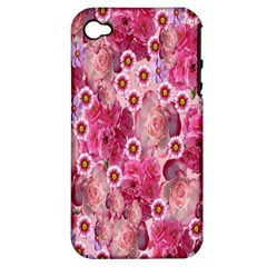 Roses Flowers Rose Blooms Nature Apple Iphone 4/4s Hardshell Case (pc+silicone)