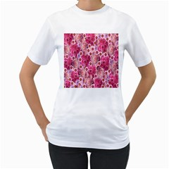 Roses Flowers Rose Blooms Nature Women s T Shirt (white)