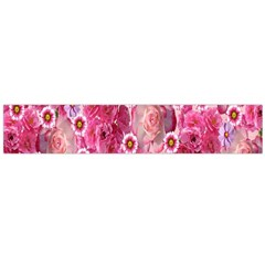 Roses Flowers Rose Blooms Nature Flano Scarf (large)