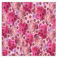 Roses Flowers Rose Blooms Nature Large Satin Scarf (Square)