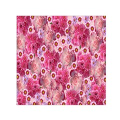 Roses Flowers Rose Blooms Nature Small Satin Scarf (Square)