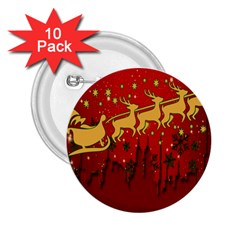 Santa Christmas Claus Winter 2.25  Buttons (10 pack)
