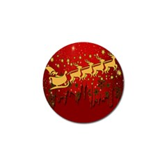 Santa Christmas Claus Winter Golf Ball Marker