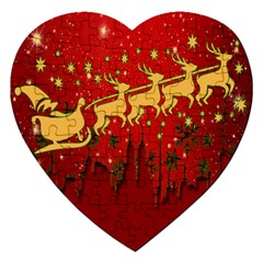 Santa Christmas Claus Winter Jigsaw Puzzle (heart)