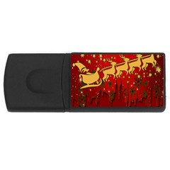 Santa Christmas Claus Winter Usb Flash Drive Rectangular (4 Gb)