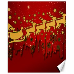 Santa Christmas Claus Winter Canvas 16  x 20
