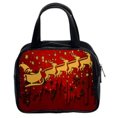 Santa Christmas Claus Winter Classic Handbags (2 Sides)
