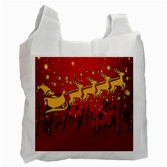 Santa Christmas Claus Winter Recycle Bag (Two Side)